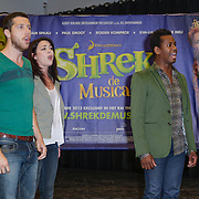 NLD/Amsterdam/20120919- Perspresentatie musical Shrek, William Spaaij, Kim Lian van der Meij en Rogier Komproe
