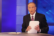 Bill O'Reilly filming The O'Reilly Factor.