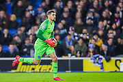 Mathew Ryan (GK) (Brighton) in action during his 100th appearance for Brighton & Hove Albion FC during the Premier League match between Brighton and Hove Albion and Watford at the American Express Community Stadium, Brighton and Hove, England on 8 February 2020.