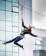 21:06:2013<br />  Miss Scotland 2013, Jamey Bowers  tries a zip slide and abseil off Skypark in Finnieston, Glasgow, to raise funds for Barnardo&rsquo;s and Cash For Kids. Aided by former Celtic star Bobby Petta and BGT's Edward Reid.<br /> <br /> Jamey on zip slide<br /> <br />  <br /> <br /> Pic:Andy Barr<br /> 07974 923919  (mobile)<br /> andy_snap@mac.com<br /> All pictures copyright Andrew Barr Photography. <br /> Please contact before any syndication