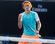 ALEXANDER ZVEREV (GER) macht die Faust und jubelt,Jubel,Emotion<br /> <br /> <br /> Australian Open 2017 -  Melbourne  Park - Melbourne - Victoria - Australia  - 19/01/2017.