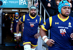 Tevita Cavubati of Worcester Warriors runs out to face Harlequins - Mandatory by-line: Robbie Stephenson/JMP - 28/01/2017 - RUGBY - Sixways Stadium - Worcester, England - Worcester Warriors v Harlequins - Anglo Welsh Cup