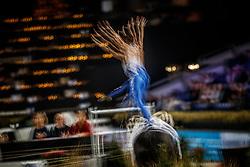 Sneekes Carola, NED, Safari H, Lunger Sneekes Marjo<br /> FEI World Cup Individual Vaulting FEMALE Vlaanderens Kerstjumping<br /> Memorial Eric Wauters<br /> Jumping Mechelen 2017<br /> © Hippo Foto - Dirk Caremans<br /> 27/12/2017
