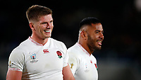 Rugby Union - 2019 Rugby World Cup - Semi-Final: England vs. New Zealand<br /> <br /> Owen Farrell and Manu Tuilagi of England at International Stadium Yokohama, Kanagawa Prefecture, Yokohama City.<br /> <br /> COLORSPORT/LYNNE CAMERON