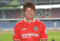 German Soccer Bundesliga 2015/16 - Photocall of Hannover 96 on 13 July 2015 in Hanover, Germany: Hiroki Sakai