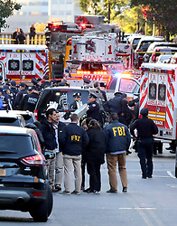 October 31, 2017 - New York, New York, United States - General views of law enforcement following a terrorist attack in downtown Manhattan on October 31 2017 in New York City  (Credit Image: © Philip Vaughan/Ace Pictures via ZUMA Press)