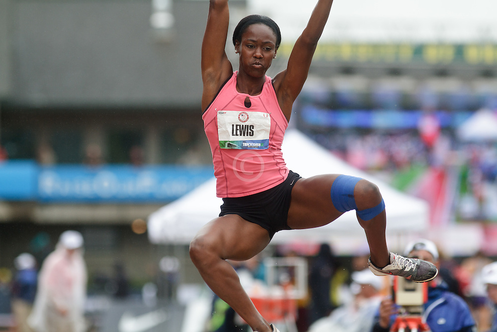 Olympic Trials Eugene 2012: Heptathlon long jump, Yvette Lewis