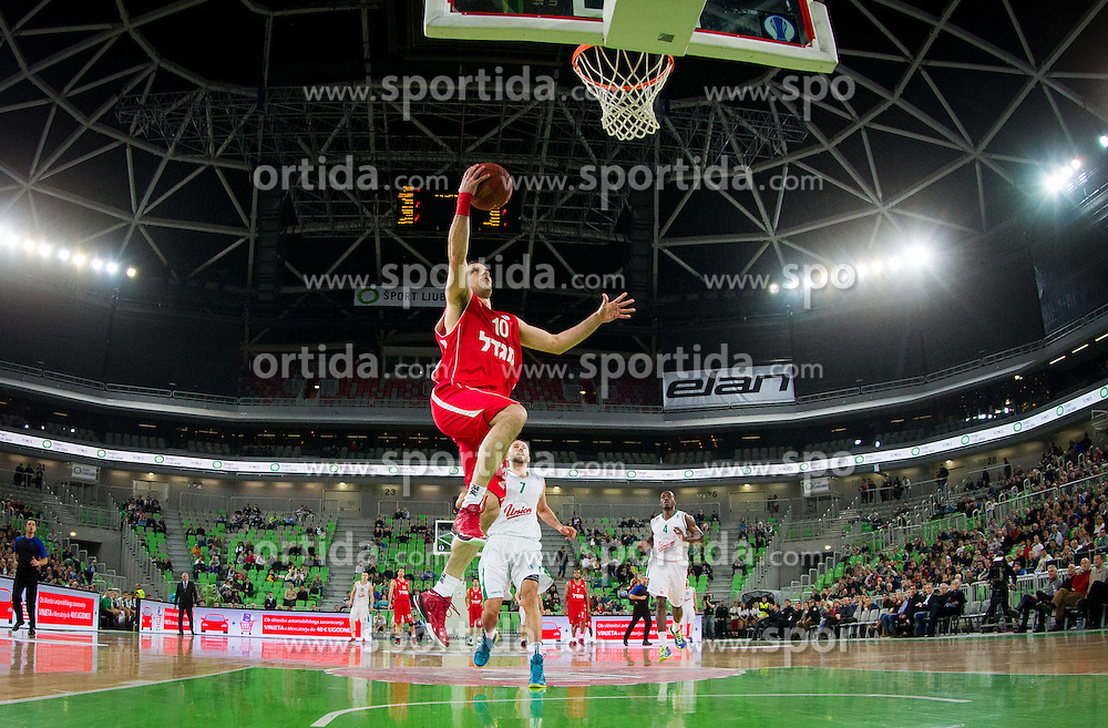 Yotam Halperin of Hapoel during basketball match between KK Union Olimpija Ljubljana and Hapoel Migdal Jerusalem (ISR) in 1st Round of EuroCup LAST 32 2013/14 on January 08, 2014 in Arena Stozice, Ljubljana, Slovenia. Photo by Vid Ponikvar / Sportida