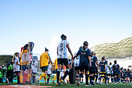 MELBOURNE, VIC - MARCH 06: Players are seen walking out prior to the start of the match during The Cup of Nations womens soccer match between Australia and Argentina on March 06, 2019 at AAMI Park, VIC. (Photo by Speed Media/Icon Sportswire)
