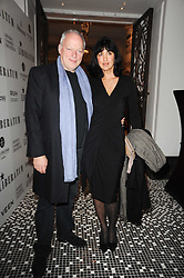 DAVID GILMOUR and POLLY SAMSON at the Liberatum Dinner hosted by Ella Krasner and Pablo Ganguli in honour of Sir V S Naipaul at The Landau at The Langham, Portland Place, London on 23rd November 2010.