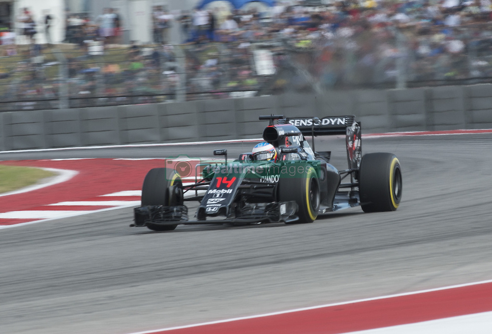 October 23, 2016 - Austin, Texas, U.S - 2016 FORMULA 1, Circuit of the America's, #14 FERNANDO ALONSO of the MCLAREN HONDA team in turn 16. (Credit Image: © Hoss Mcbain via ZUMA Wire)