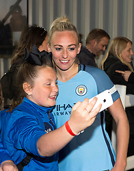 Jill Scott of Manchester City Women poses for a selfie - Mandatory by-line: Paul Knight/JMP - 09/05/2017 - FOOTBALL - Stoke Gifford Stadium - Bristol, England - Bristol City Women v Manchester City Women - FA Women's Super League Spring Series