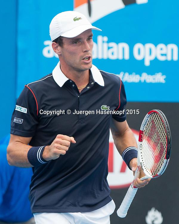 Roberto Bautista-Agut (ESP)<br /> <br />  - Australian Open 2015 -  -  Melbourne Park Tennis Centre - Melbourne - Victoria - Australia  - 20 January 2015. <br /> &copy; Juergen Hasenkopf
