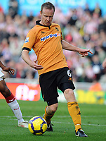 Britannia Stadium Stoke City v Wolverhampton Wanderers 31/10/09<br /> Jody Craddock  (Wolves)<br /> Photo Roger Parker Fotosports International