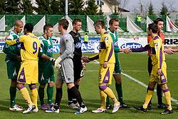 Football match of 31st Round of 1st Slovenian League  between NK Olimpija and NK Maribor, on April 16, 2010, in ZAK Stadium, Ljubljana, Slovenia. (Photo by Vid Ponikvar / Sportida)