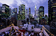 New York, the  Rare View ,sky bar terrace on the rooftop  of the Shelburn hotel in Murray hill midtown