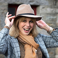Joanna Lumley Launches Bell's Barrel of Laughs In Support Of Help For Heroes....<br /> Joanna Lumley pictured at Bell's Blair Athol Distillery Pitlochry where Rob Edmond began his 517 mile 'Barrell Roll' heading to Tedworth House in Wiltshire.<br /> Picture by Graeme Hart.<br /> Copyright Perthshire Picture Agency