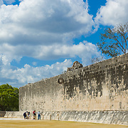 Ball game courtyard. Chichen Itza, Mexico.
