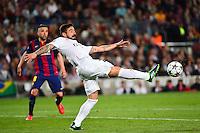 Ezequiel LAVEZZI - 21.04.2015 - Barcelone / Paris Saint Germain - 1/4Finale Retour Champions League<br />Photo : Dave Winter / Icon Sport
