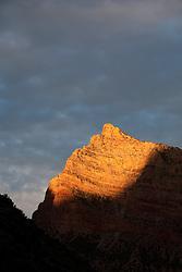 North America, United States, Utah, Dinosaur National Monument, Green River, mountain at sunrise