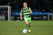 Forest Green Rovers Marcus Kelly(10) runs forward during the Vanarama National League match between Macclesfield Town and Forest Green Rovers at Moss Rose, Macclesfield, United Kingdom on 12 November 2016. Photo by Shane Healey.