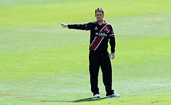 Somerset's Jim Allenby gives instructions- Photo mandatory by-line: Harry Trump/JMP - Mobile: 07966 386802 - 29/07/15 - SPORT - CRICKET - Somerset v Durham - Royal London One Day Cup - The County Ground, Taunton, England.