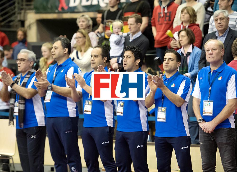 BERLIN - Indoor Hockey World Cup<br /> Bronze: Iran - Australia<br /> foto: Iran<br /> WORLDSPORTPICS COPYRIGHT FRANK UIJLENBROEK