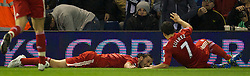 WEST BROMWICH, ENGLAND - Saturday, October 29, 2011: Liverpool's Andy Carroll celebrates scoring the second goal against West Bromwich Albion during the Premiership match at The Hawthorns. (Pic by David Rawcliffe/Propaganda)