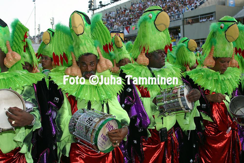 04.03.2003, Rio de Janeiro, Brazil..Carnaval 2003 - Desfile das Escolas de Samba, Grupo Especial / Carnival 2003 - Parades of the Samba Schools..Desfile de / Parade of:  GRES Imperatriz Leopoldinense.©Juha Tamminen