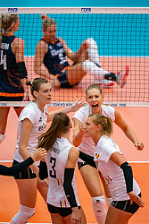 02-08-2019 ITA: FIVB Tokyo Volleyball Qualification 2019 / Belgium - Netherlands, Catania<br /> 1e match pool F in hall Pala Catania between Belgium - Netherlands. Netherlands win 3-0 / Belgium