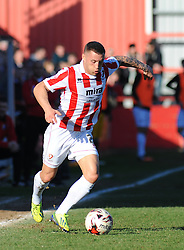Cheltenham Town's Lee Vaughan - Photo mandatory by-line: Nizaam Jones  - Mobile: 07966 386802 - 07/03/2015 - SPORT - Football - Cheltenham - Whaddon Road- Cheltenham Town v Mansfield - Sky Bet League Two