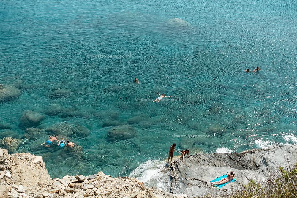Greece, Kyklades, Amorgos, Mouros beach