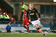 Exeter City forward, on loan from Bournemouth, Jayden Stockley   during the Sky Bet League 2 match between York City and Exeter City at Bootham Crescent, York, England on 16 February 2016. Photo by Simon Davies.