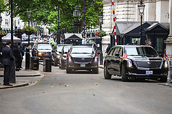 © Licensed to London News Pictures. 04/06/2019. London, UK. President of the United States Donald Trump motorcade arrives in Downing Street. President Trump is in the UK for a three-day State Visit. Photo credit: Rob Pinney/LNP