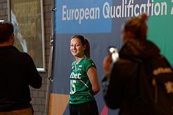 09–01-2020 NED: Olympic qualification tournament women Bulgaria - Azerbaijan, Apeldoorn<br /> Bulgaria - Azerbaijan / Zhana Todorova #15 of Bulgaria