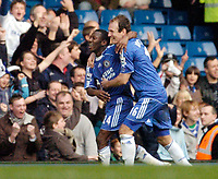 Photo: Leigh Quinnell.<br /> Chelsea v Norwich City. The FA Cup. 17/02/2007.<br /> Chelseas Shaun Wright-Phillips is congratulated by team mate Arjen Robben after his goal.