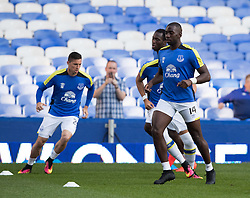 LIVERPOOL, ENGLAND - Tuesday, August 23, 2016: Everton's Yannick Bolasie  warm up before match against Yeovil Town in the Football League Cup 2nd Round match at Goodison Park. (Pic by Gavin Trafford/Propaganda)