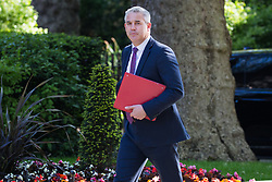 London, UK. 21 May, 2019. Stephen Barclay MP, Secretary of State for Exiting the European Union, arrives at 10 Downing Street for a Cabinet meeting.
