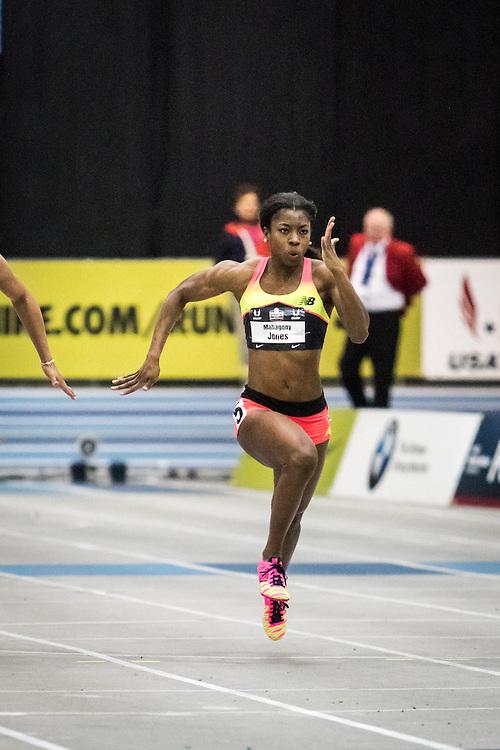 USATF Indoor Track & Field Championships: womens 60, Mahagony Jones