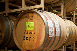 French oak wine barrels, Abacela Winery, Roseburg, Oregon.