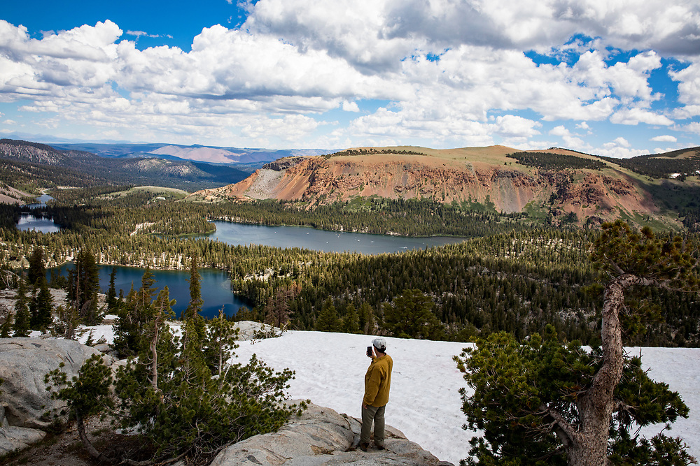 View from the base of Crystal Crag overlooking the Mammoth Lakes.