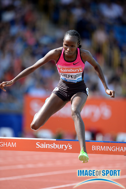 Jun 30, 2013; Birmingham, UNITED KINGDOM; Lydia Chepkurui (KEN) places fourth in the womens steeplechase in 9:23.00 in the 2013 Sainsbury's Grand Prix at Alexander Stadium. Photo by Jiro Michozuki