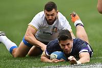 Try of Sean Maitland Scotland<br /> Roma 17-03-2018, Stadio Olimpico<br /> Rugby 6 Nations Tournament <br /> Italia - Scozia / Italy - Scotland<br /> <br /> Foto Antonietta Baldassarre Insidefoto