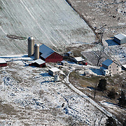 Aerial view of Chambersburg PA Construction Progress
