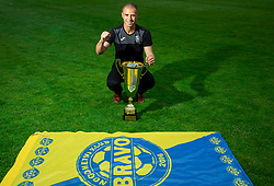 Dejan Grabic during celebration of NK Bravo, winning team in 2nd Slovenian Football League in season 2018/19 after they qualified to Prva Liga, on May 26th, 2019, in Stadium ZAK, Ljubljana, Slovenia. Photo by Vid Ponikvar / Sportida