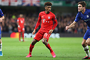 Bayern Munich forward Kingsley Coman in action during the Champions League match between Chelsea and Bayern Munich at Stamford Bridge, London, England on 25 February 2020.