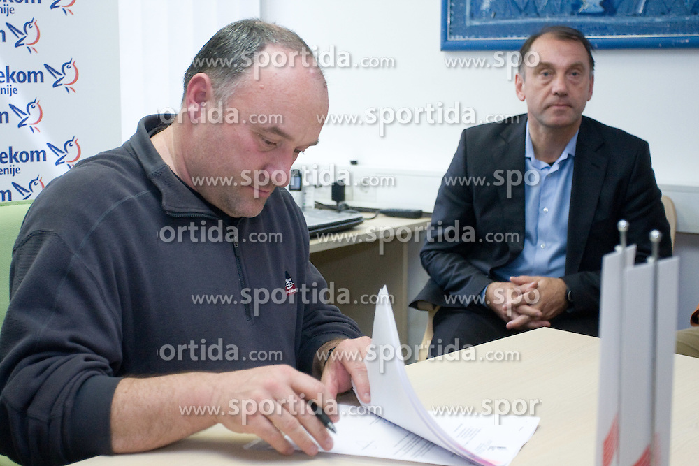 Coach Malnar Slavko when Slovenian athletes and their coaches sign contracts with Athletic federation of Slovenia for year 2009,  in AZS, Ljubljana, Slovenia, on March 2, 2009. (Photo by Vid Ponikvar / Sportida)