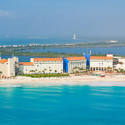 Aerial View of the Westin Hotel.<br /> Cancun, Quintana Roo. Mexico
