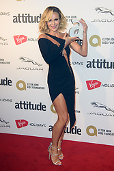 Amanda Holden after winning the Honorary Gay award, at the Attitude Awards at the Roundhouse, London.