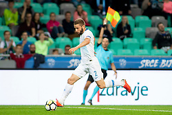 Nejc Skubic of Slovenia during football match between National teams of Slovenia and Bulgaria in Group stage of UEFA Nationals League, on September 6, 2018 in SRC Stozice, Ljubljana, Slovenia. Photo by Urban Urbanc / Sportida